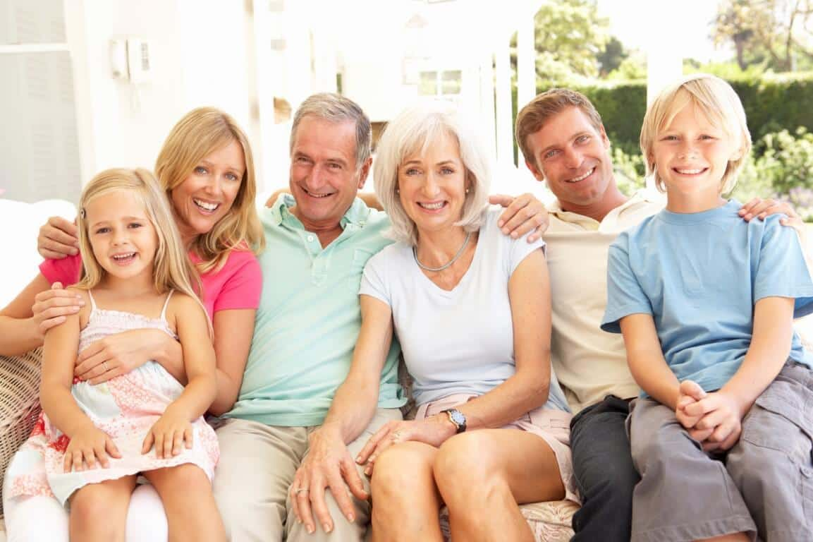 Multi-Generational Baby Boomer Family Photo
