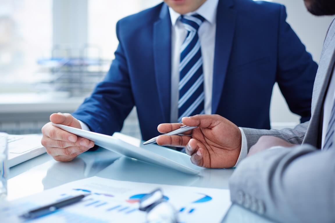 Financial Advisors Reviewing Plan