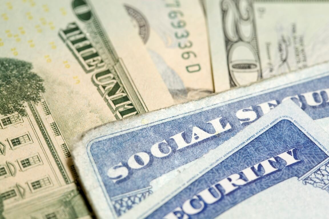 Social Security Administration Card & Cash